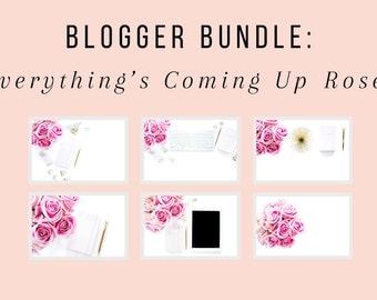 Styled Stock Photography | Everything's Coming Up Roses Blogger Bundle - 6 Image Set | Product Photography | Digital Images