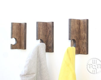 Coat Rack (Set of 3), Coat Hook, Wall Hook, Wall Coat Hook, Modern Coat Hook, Coat Hanger, Decorative Hooks, Coat Rack Hook, Rustic Hook