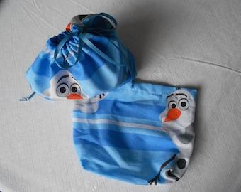 Medium Frozen Olaf Drawstring Pouch