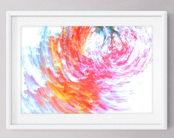 """Abstract Photography Print Fall Foliage Autumn Photo Orange and Red Leaves  12"""" x 18"""" Print Wall Art Home Decor"""
