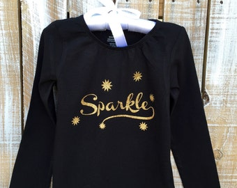 Sparkle Gathered Neckline Shirt