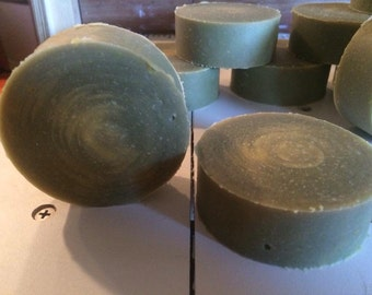 Lemongrass & Green Tea round soap