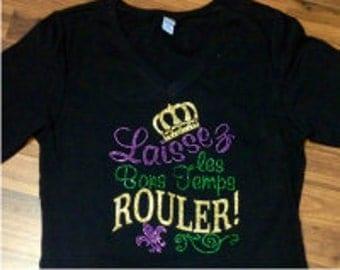 Last Chance Sale Sequin Mardi Gras Shirtwomens Shirts