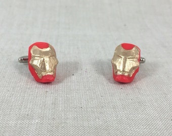 Hand painted Iron Man cufflinks