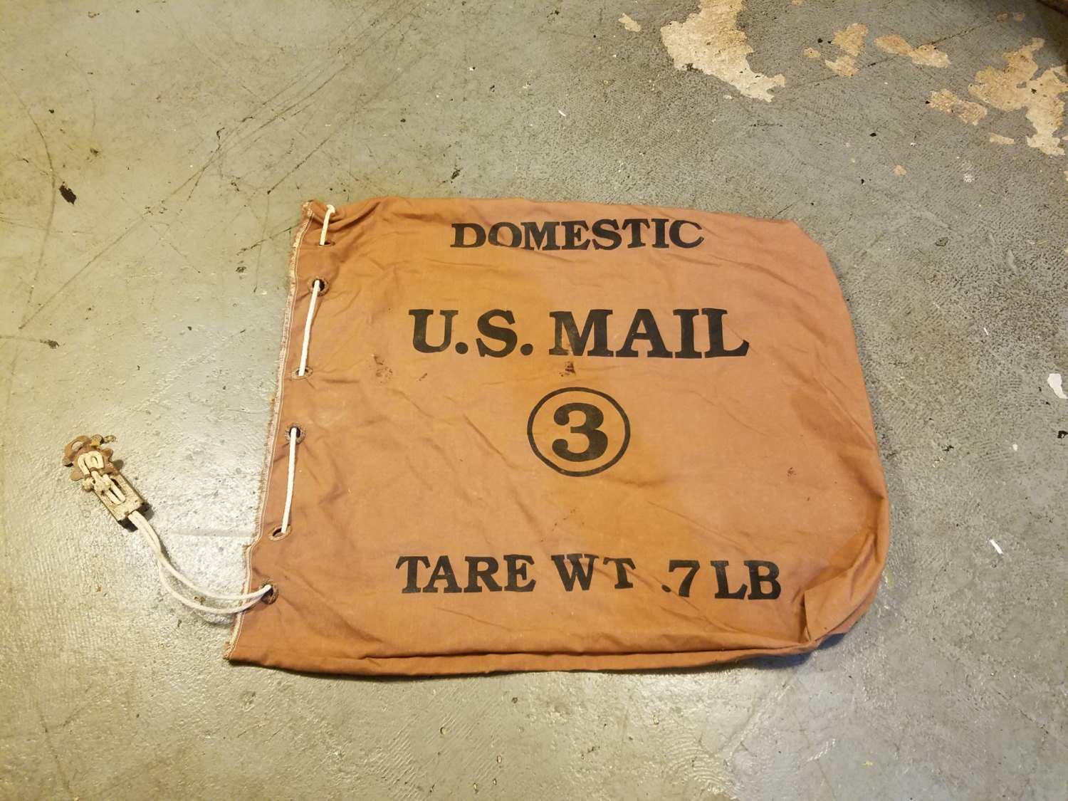 Vintage Post Office USPS Mail Bag Very Heavy Duty Nylon