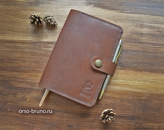 Leather Notebooks Cover, Leather Moleskine Cover, Leather Organizer, Travel Accessories, Leather Notebooks Holder, Moleskine A6 case.