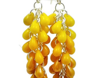 Yellow to Orange earrings