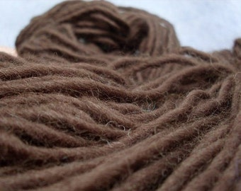 WOOL YARN /100% Merino Wool/wool yarn 100g/yarn/bulky wool yarn/handspun yarn/chunky yarn/brown yarn/110 yards