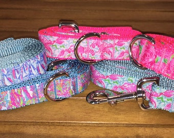 "Lilly Inspired Dog Leash- 1"" Width"