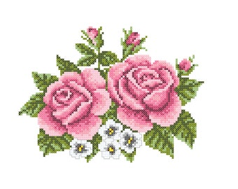 Embroidery Roses, machine embroidery roses, cross stitsh roses
