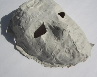 Paper Mache Mask, blank, unfinished,ready to decorate, mask