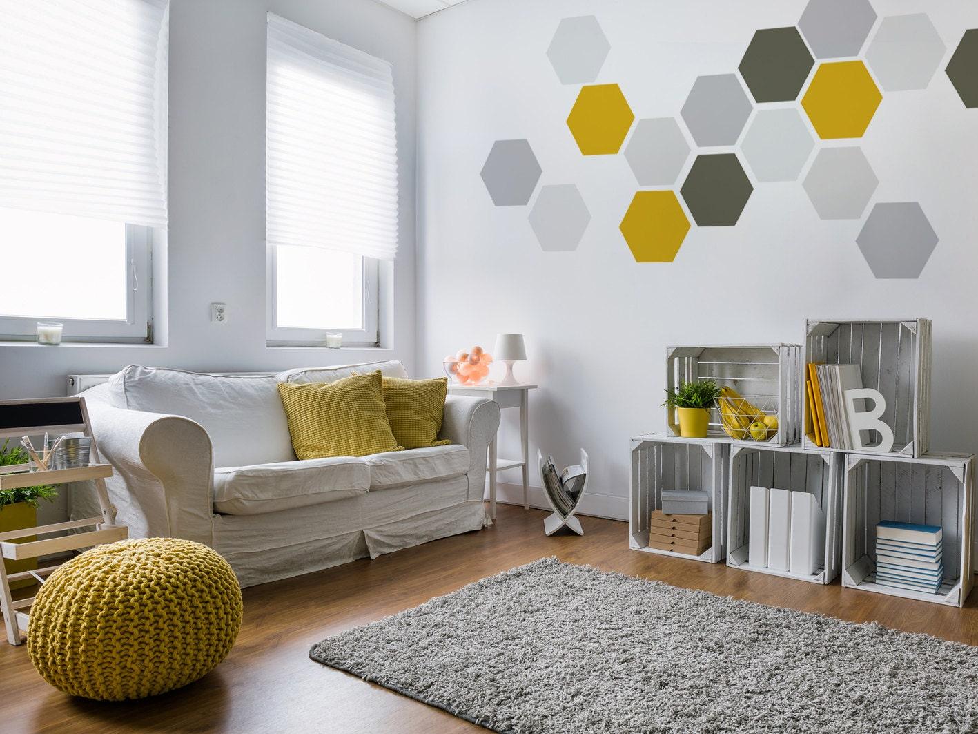 Geometric Removable Wall Art Wallpaper Fabric-like Stickers