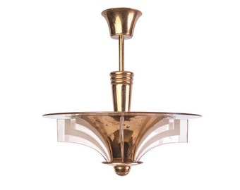 Stunning  French Art Deco Chandelier By Petitot