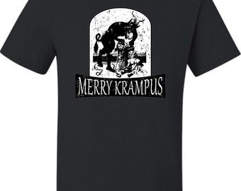 Adult Merry Krampus Christmas Demon T-Shirt