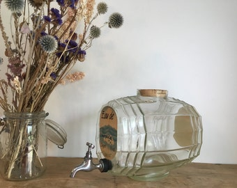 French Vintage 'Thomas Guinamand' Eau de Cologne Glass Barrel