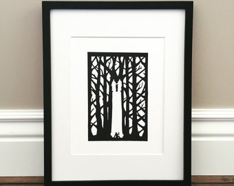 """Pillar of Light - Signed Print - Joseph Smith and the First Vision - 8.5"""" x 11"""""""