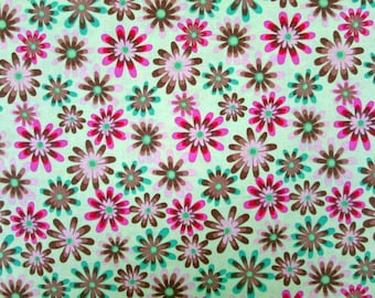 Flower Power Lime Green Fabric