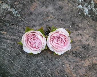 Pink earrings Pink jewelry Pink Rose jewelry Wedding earrings Bridal jewelry Flower jewelry Pastel jewelry Delicate jewelry Blush wedding