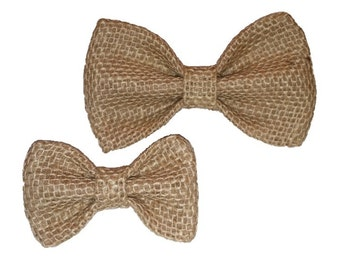 Dog Bow Tie - Burlap Bow Tie - Bow Tie For Dog - Burlap Dog Bow Tie - Handmade Dog Bow Tie