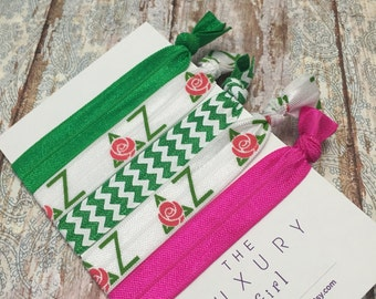 Delta Zeta Sorority Hair Elastics; Delta Zeta Sorority Hair Ties; Delta Zeta Gift; Delta Zeta big little; Delta Zeta bid day