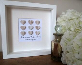 Personalised Heart Wedding Wall Art