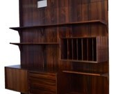 Poul Cadovius Rosewood Wall Unit. Pieces are being sold individually