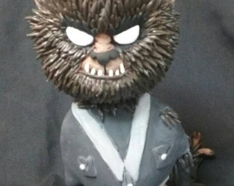 Little Wolfman Sculpture