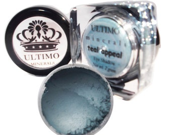 Ultimo Minerals TEAL APPEAL Blue Pearlized Eye Shadow - Mica Infused Pigment - All Natural: Chemical & Gluten Free - Free Shipping!!