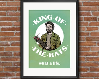 Charlie Kelly Art Print / It's Always Sunny In Philadelphia / Paddy's Pub / Charlie Day