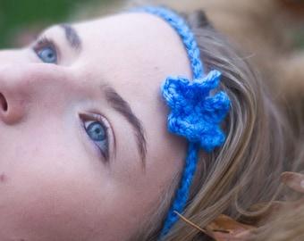 Thin Crochet Flower Headband
