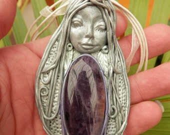 Goddess of the Spirit Amethyst Goddess Necklace