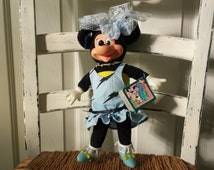 Applause Totally Minnie 1986 Minnie Mouse Stuffed Doll With Tags And Rubber Face Hands Feet