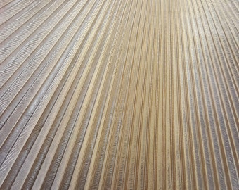 "Samberzed Pleated Lame Gold, 54"" inch, sold by the piece, (3 1/2 yards in each piece)"
