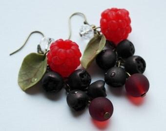 Earrings  raspberries