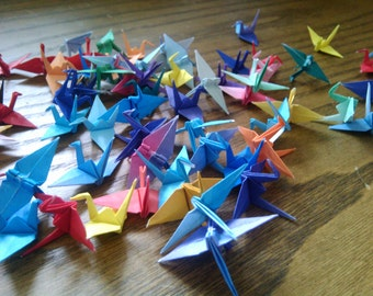 100 Origami Cranes