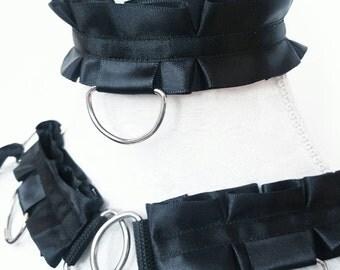 BYO Elegance Set -  Build Your Own Durable BDSM Ddlg Pet Kitten Submissive Slave Collar Cuffs Set