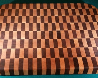 Walnut/Maple end grain cutting board