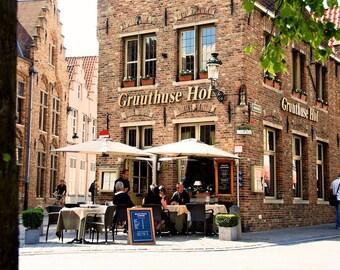 Gruuthuse Hof - Restaurant - Mariastraat - Brugge - Bruges - Belgium - Photo - Print