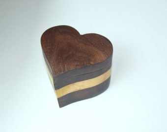 Ring box, Heart Shaped, Hand Made, Presentation box
