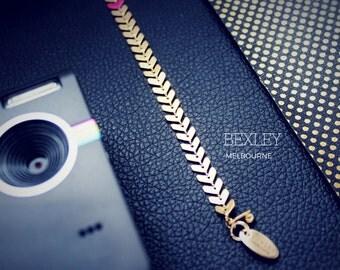 Chevron Gold Bracelet