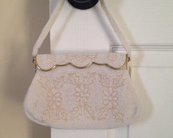 Beautiful Sharonee handbeaded bag. Made in Japan.