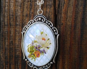 Floral necklace, thinking of you, happy birthday, mother's day, trendy, summer necklace, spring necklace, just because