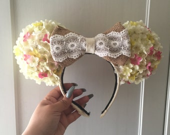 Rustic Minnie Mouse Ears