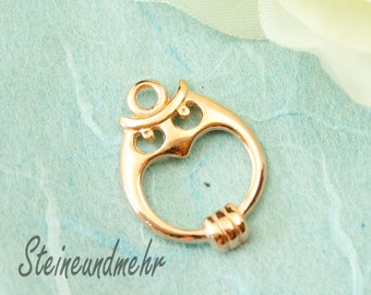 Charm OWL 22mm rosegold plated art.2686