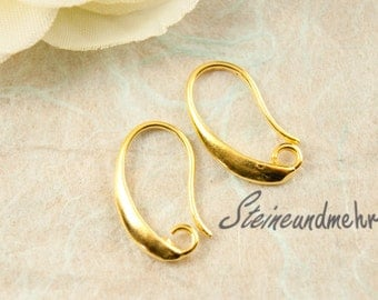 1 pair of earrings gold plated 17mm #1454