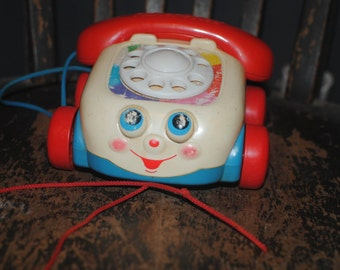 Vintage 1993 Fisher Price Pull Toy/ Telephone