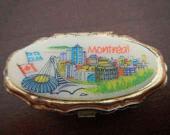 Montreal Pill Box, with Separated Compartments. Vintage.