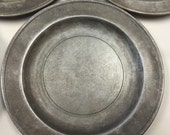 Rustic Wilton-Columbia, PA Armeteal Plates. Pewter-like Medieval Dinner plates! Made in the USA.