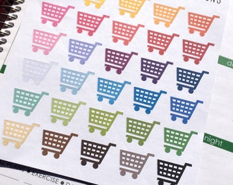 Shopping Cart, Planner Stickers