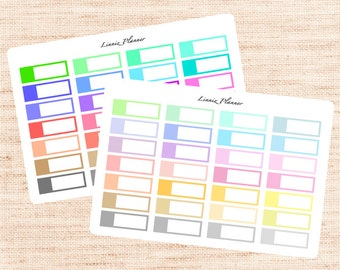 Blank Icon 1/4 Box Functional Basics (matte planner stickers, Erin Condren, Happy Planner)